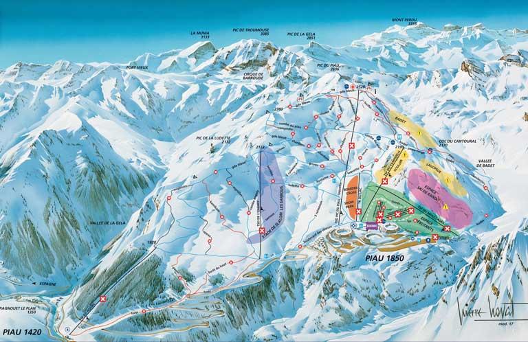 Plan des pistes Piau Engaly