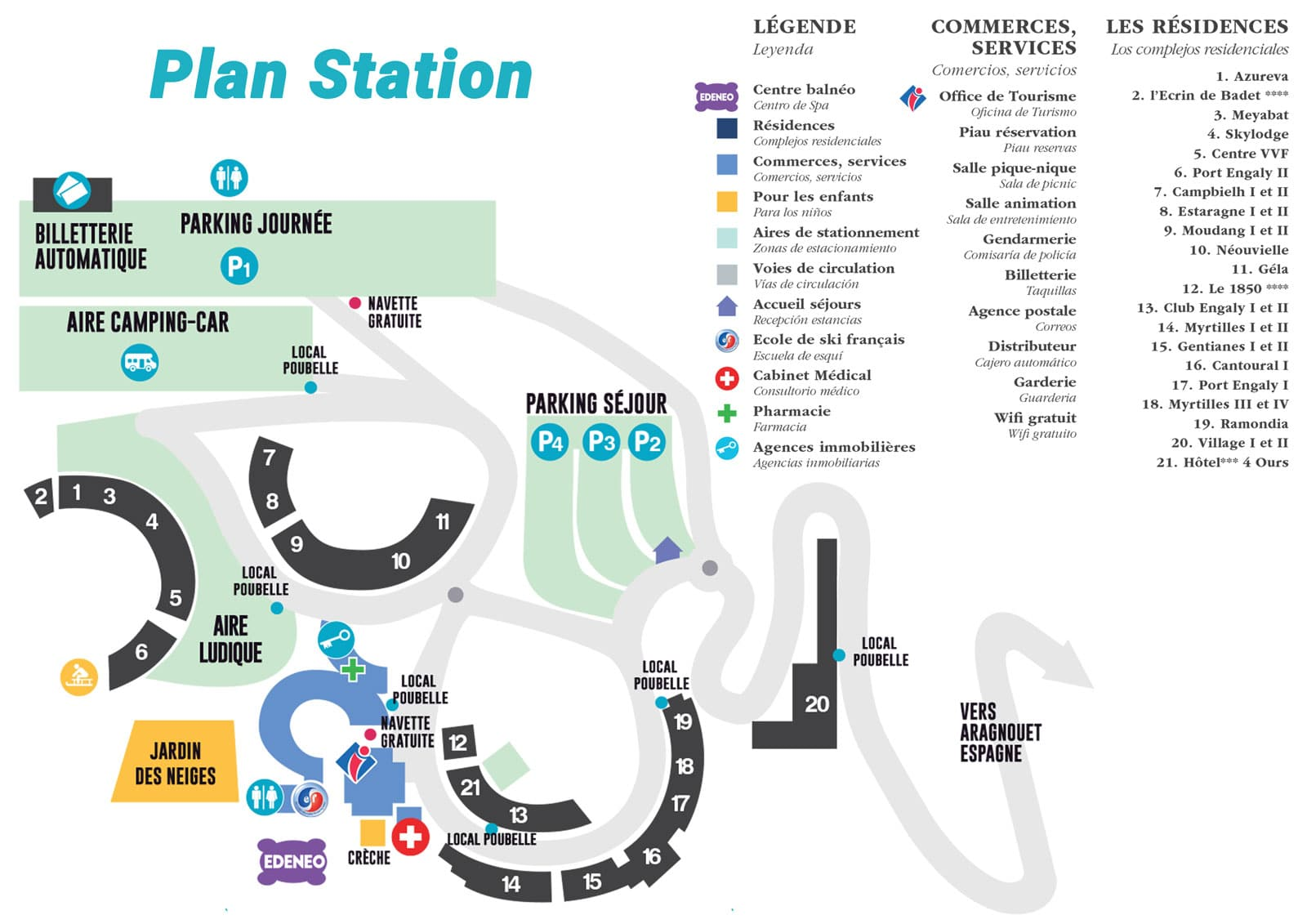 Plan Station Piau Engaly